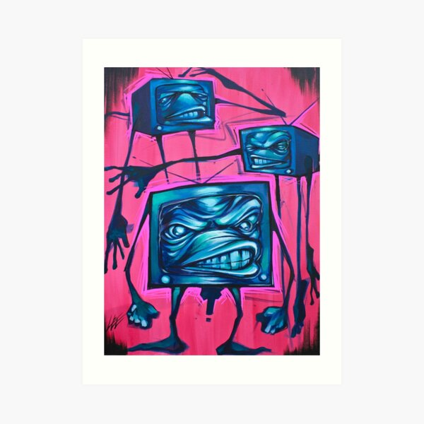 TV SET Art Print
