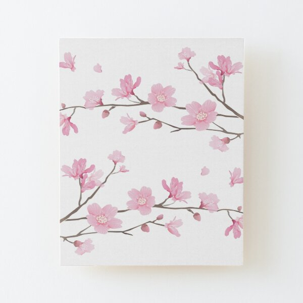 Cherry Blossom - Transparent Background Wood Mounted Print
