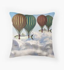 Fly the fish over Berlin Throw Pillow