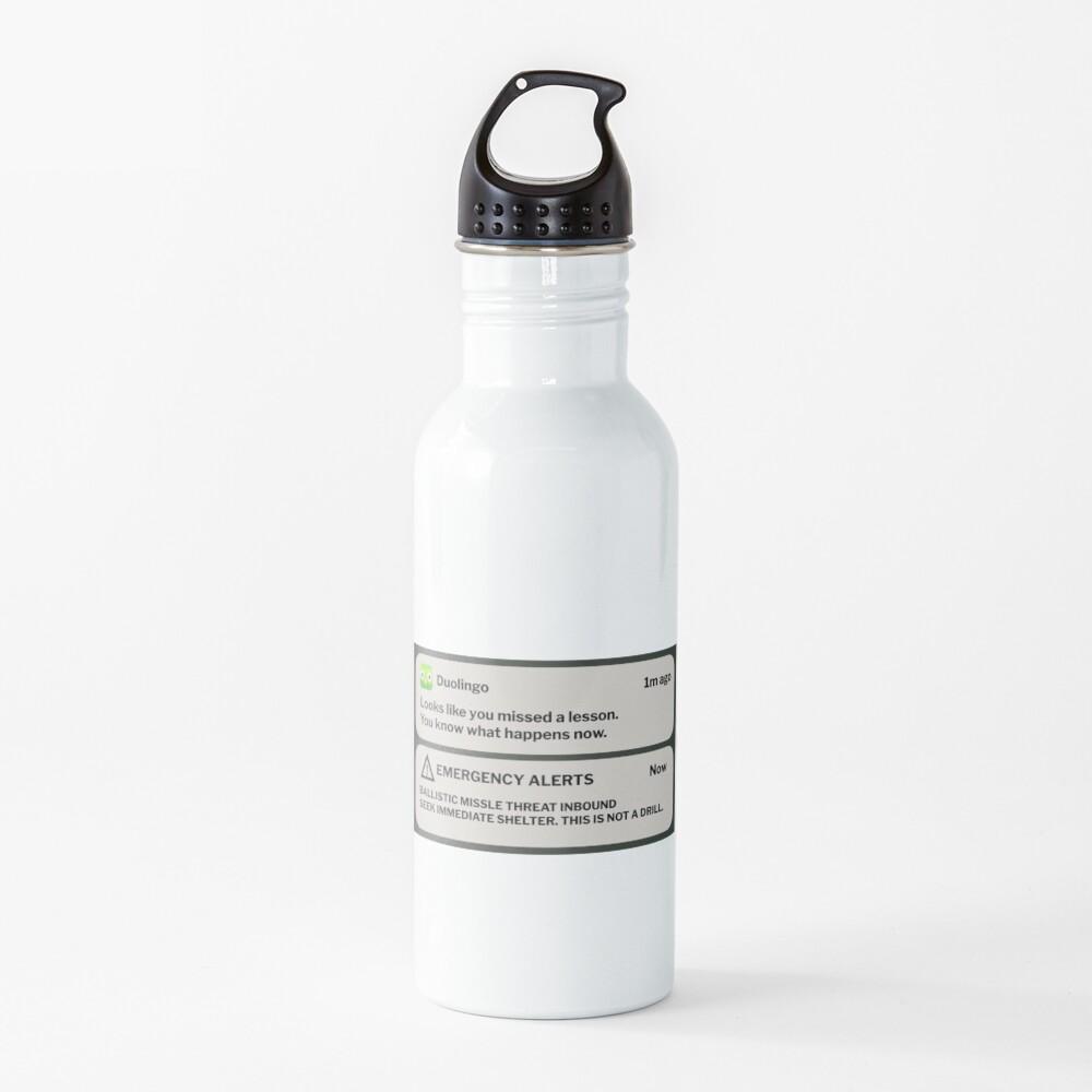 Evil Duolingo Owl Water Bottle