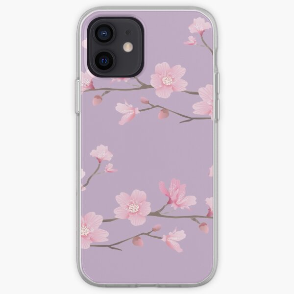 Cherry Blossom - Pastel Purple iPhone Soft Case