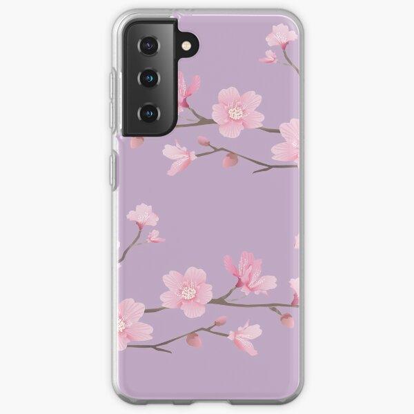 Cherry Blossom - Pastel Purple Samsung Galaxy Soft Case