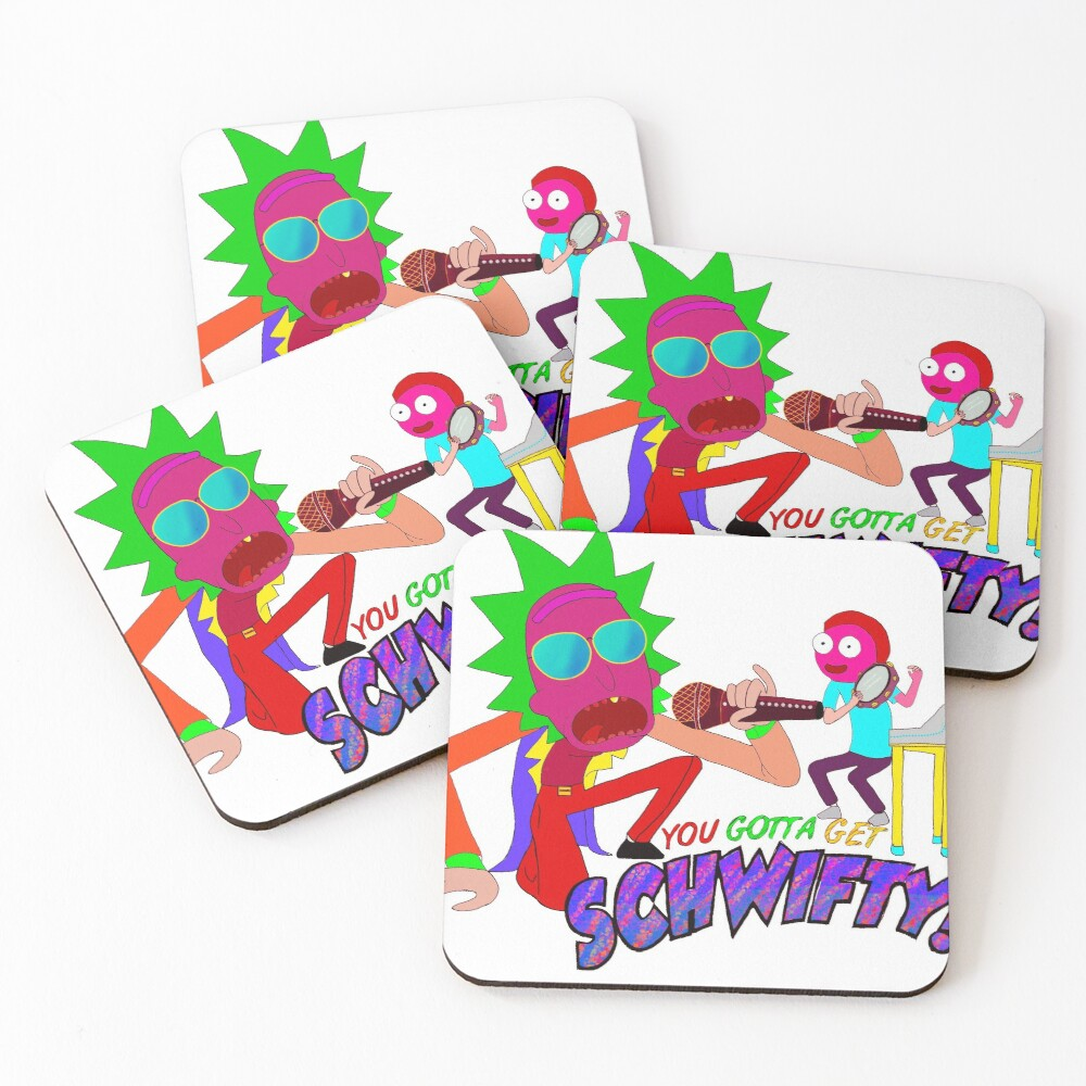 Rick and Morty Scwifty! Coasters (Set of 4)