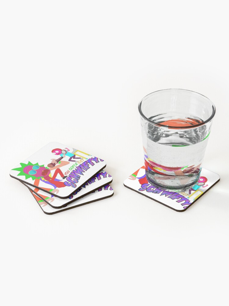 Alternate view of Rick and Morty Scwifty! Coasters (Set of 4)