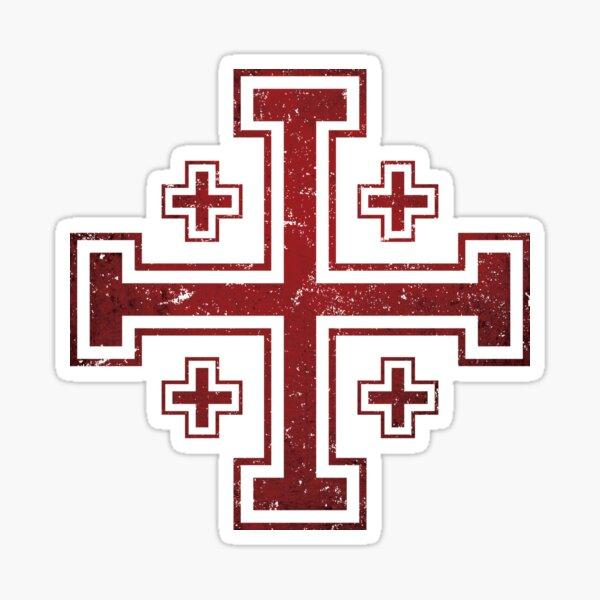 Jerusalem Cross medieval Knights Cross Crusader  Sticker
