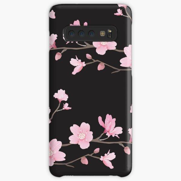 Flor de cerezo - negro Funda rígida para Samsung Galaxy