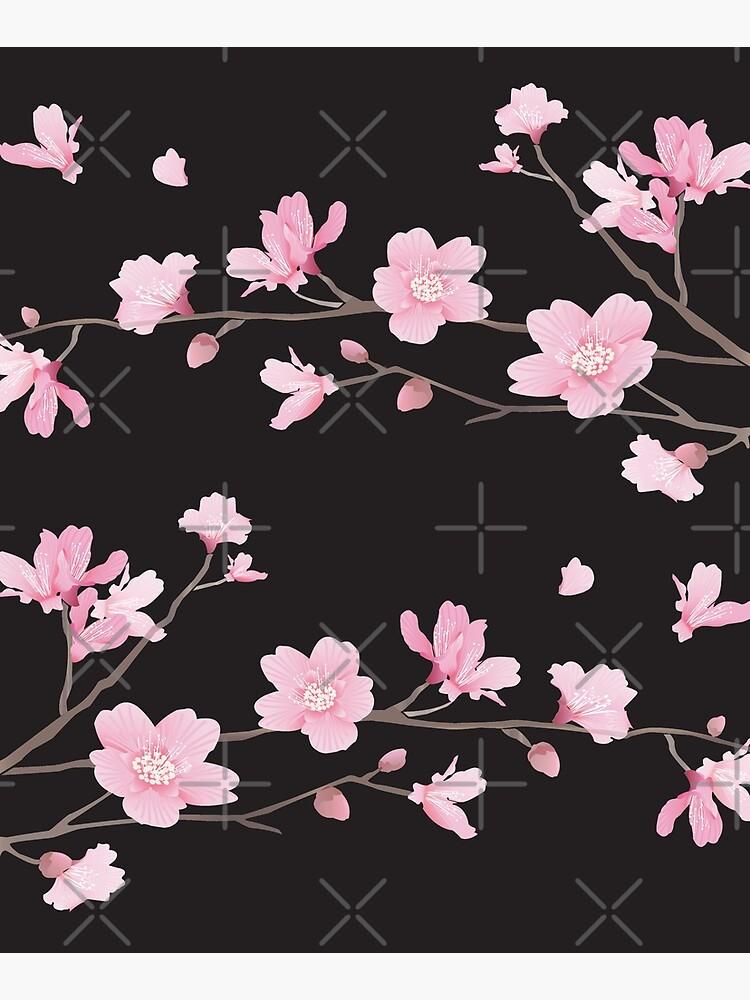 Flor de cerezo - negro de designenrich