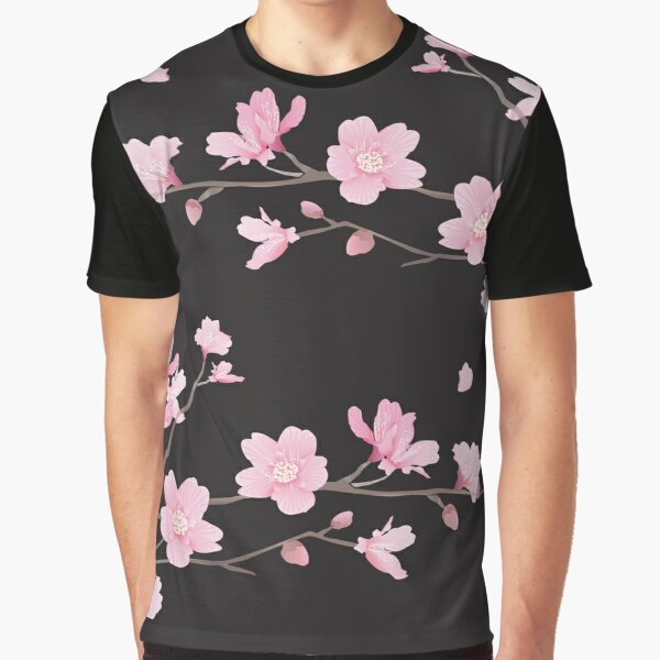 Flor de cerezo - negro Camiseta gráfica