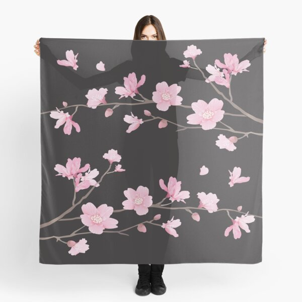 Flor de cerezo - negro Pañuelo