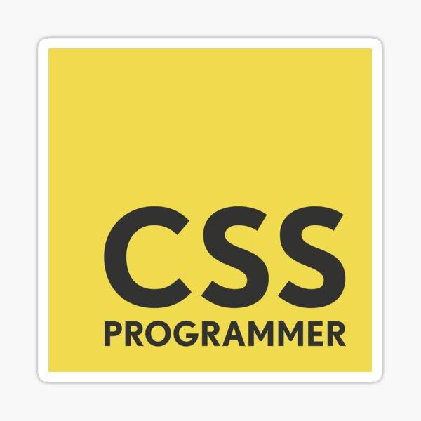 CSS Programmer Sticker Sticker