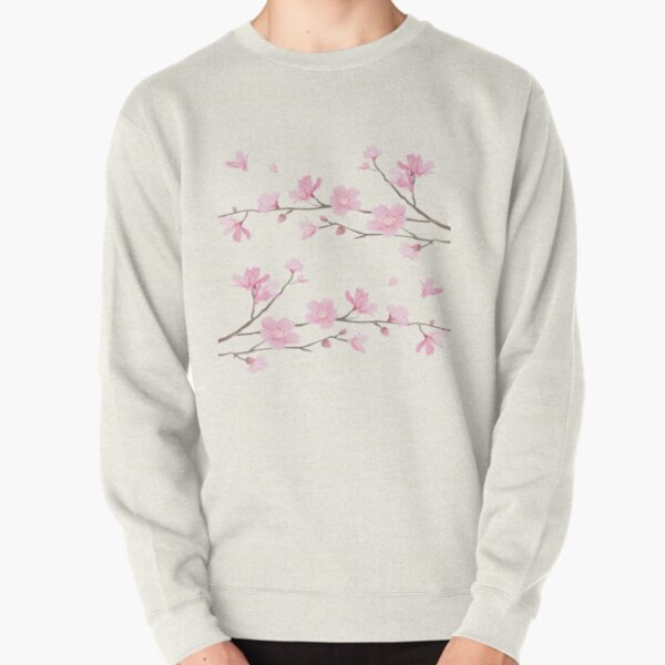 Cherry Blossom - Transparent Background Pullover Sweatshirt