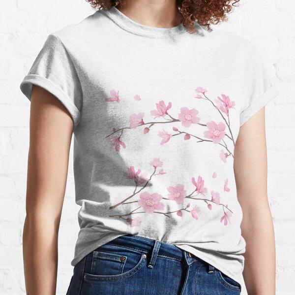 Fleur de cerisier - fond transparent T-shirt classique