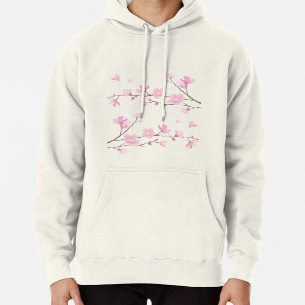 Cherry Blossom - Transparent Background Pullover Hoodie