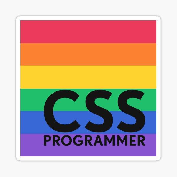 CSS Programmer Sticker - Rainbow Sticker