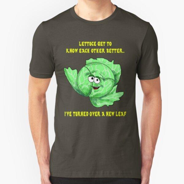 Lettuce Pick Up Lines... Slim Fit T-Shirt