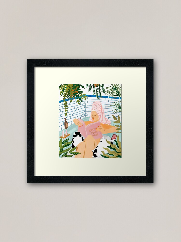 Alternate view of How To Have A Spa Day At Home #illustration Framed Art Print