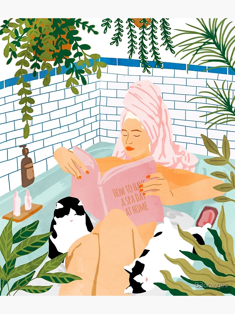 How To Have A Spa Day At Home #illustration by 83oranges