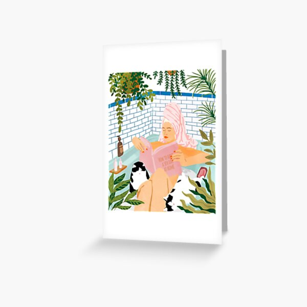 How To Have A Spa Day At Home #illustration Greeting Card