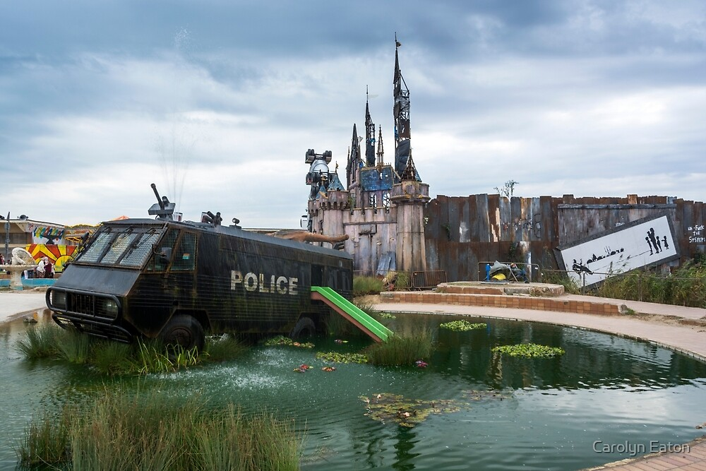 The Waterslide at Banksy's Dismaland by Carolyn Eaton