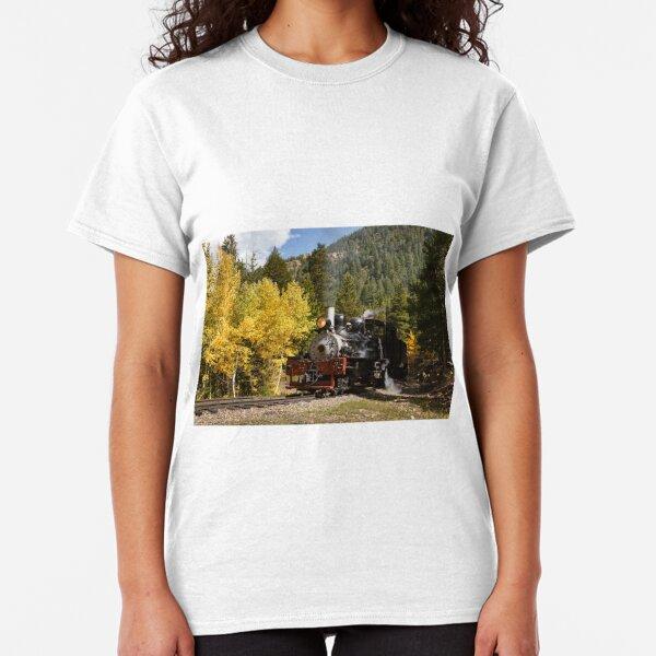 Vintage Steam Train in Autumn Classic T-Shirt