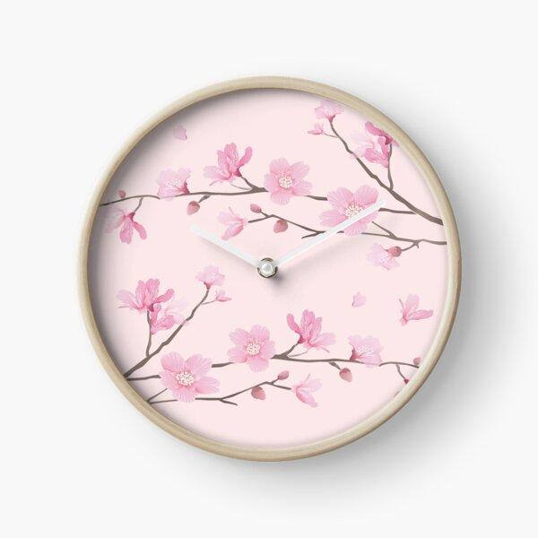 Cherry Blossom - Pink Clock