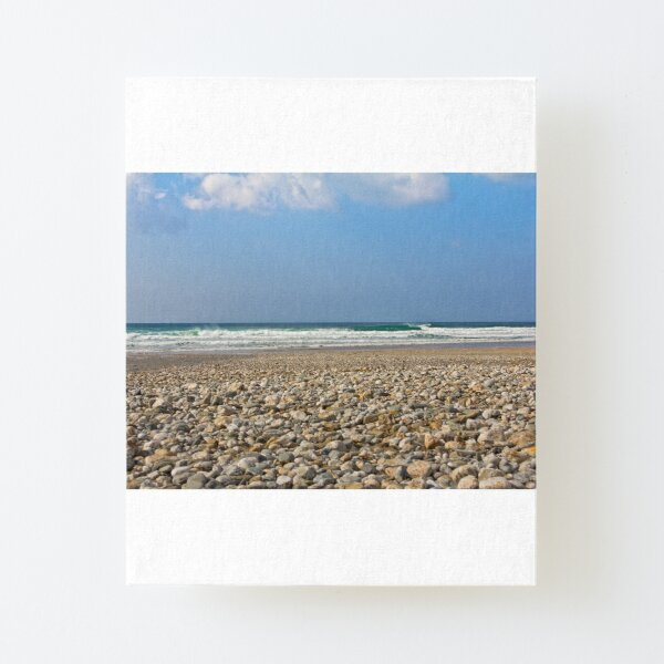 Photograph Seascape of Pebbles on the beach Canvas Mounted Print