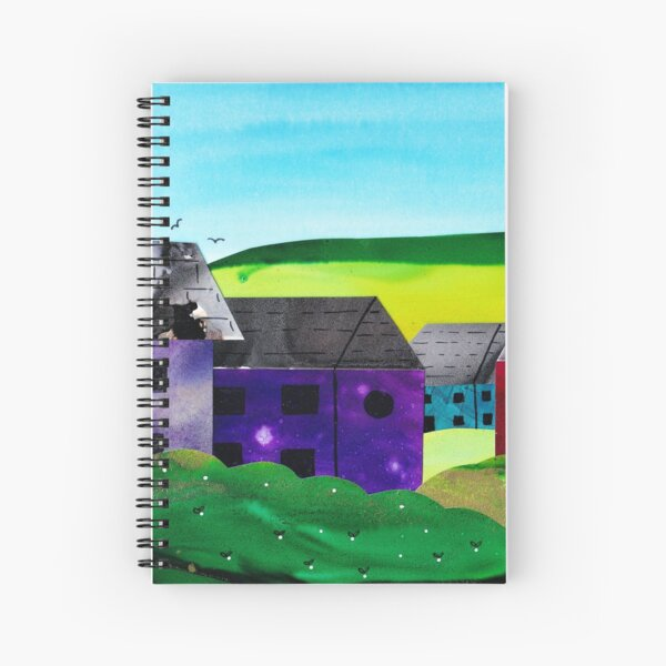 Cute Colouful Houses Spiral Notebook