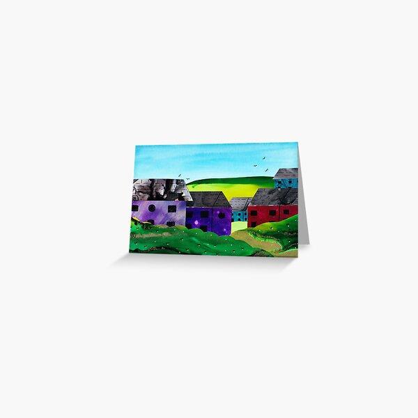 Cute Colouful Houses Greeting Card