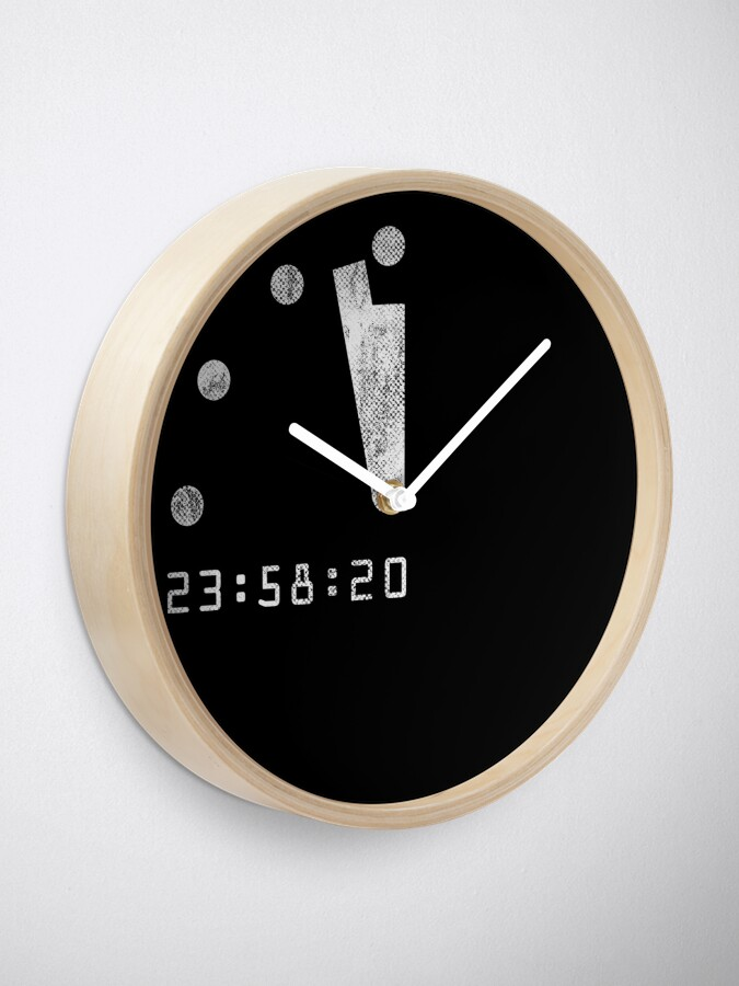 Alternate view of Doomsday 100 Seconds To Midnight Clock Clock