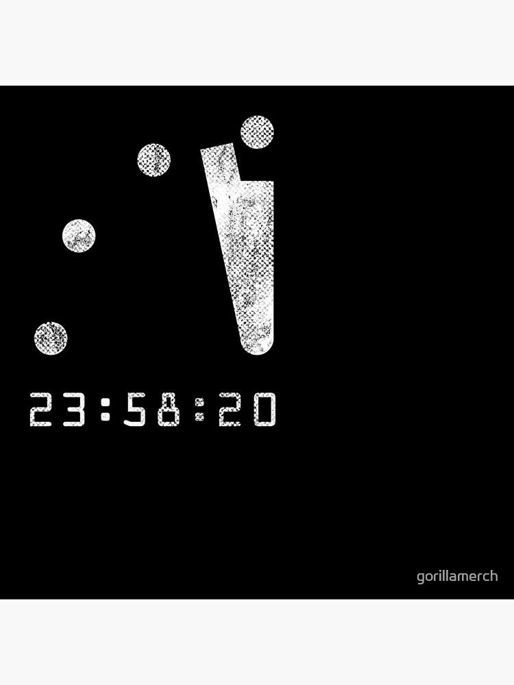 Doomsday 100 Seconds To Midnight Clock by gorillamerch
