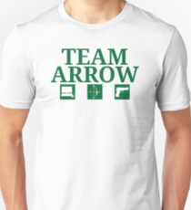 Team Arrow - Symbols w/ Text - Weapons T-Shirt