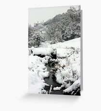 Snowy Stream, Petworth. Greeting Card