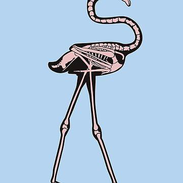 Skeletal Flamingo by fuzzyd