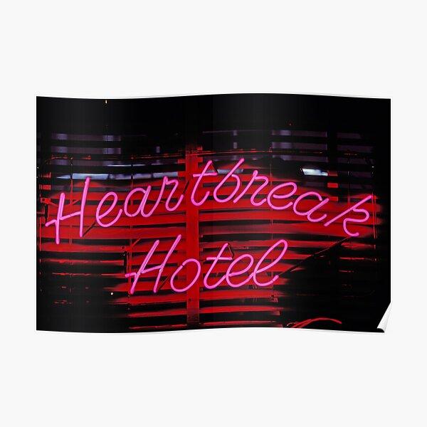 Hotel Heartbreak neón Póster