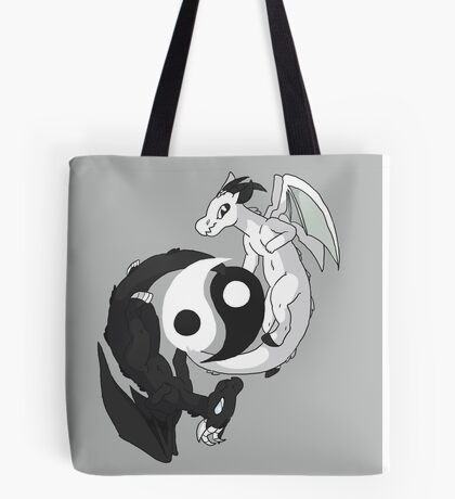 Yin & Yang Dragons Tote Bag