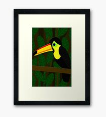 Toucan in the Jungle Framed Print