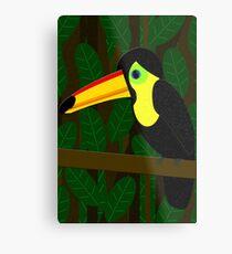 Toucan in the Jungle Metal Print