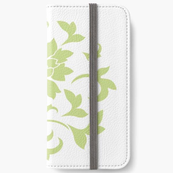Flower Silhouette - Daiquiri Green Circular iPhone Wallet