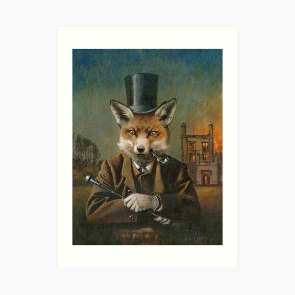 The Dapper Fox Art Print