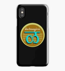Devanagari teal and brown iPhone Case/Skin