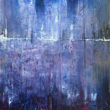Abstract Purple Landscape by SamDurkin