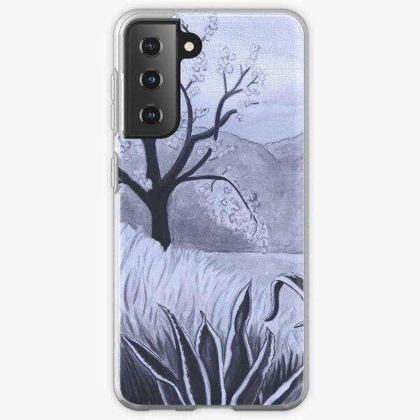 Agave (Pita) and blossoming Almond Tree in Ibiza   Samsung Galaxy Soft Case