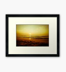 Surfer in the beach Framed Print