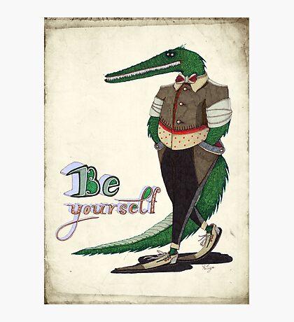 Walking Crocodile Photographic Print