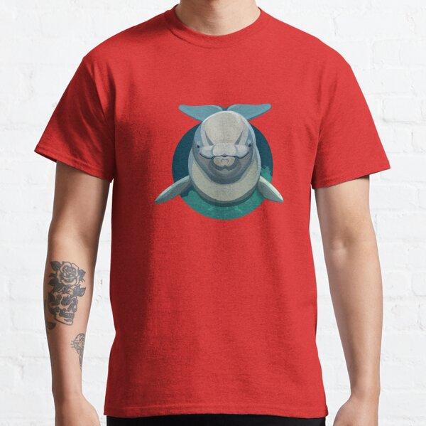 Beluga Whale Round Classic T-Shirt