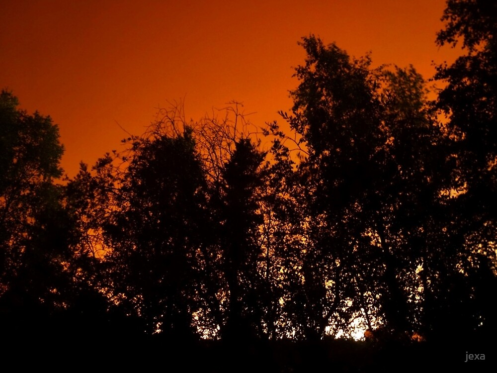 Apocalyptic skies over Yellowknife-wildfires-summer of 2014 by jexa