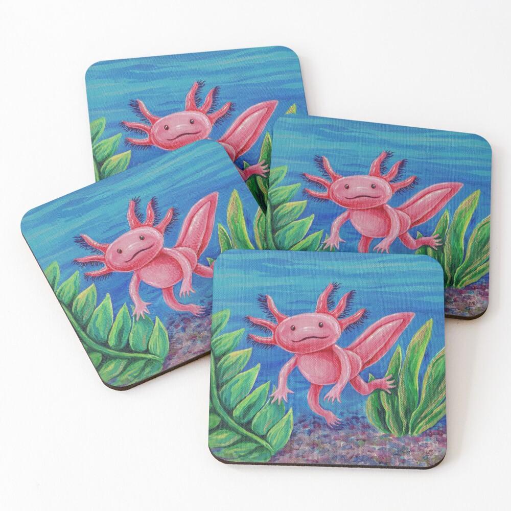 Axolotl Just Vibin' Coasters (Set of 4)