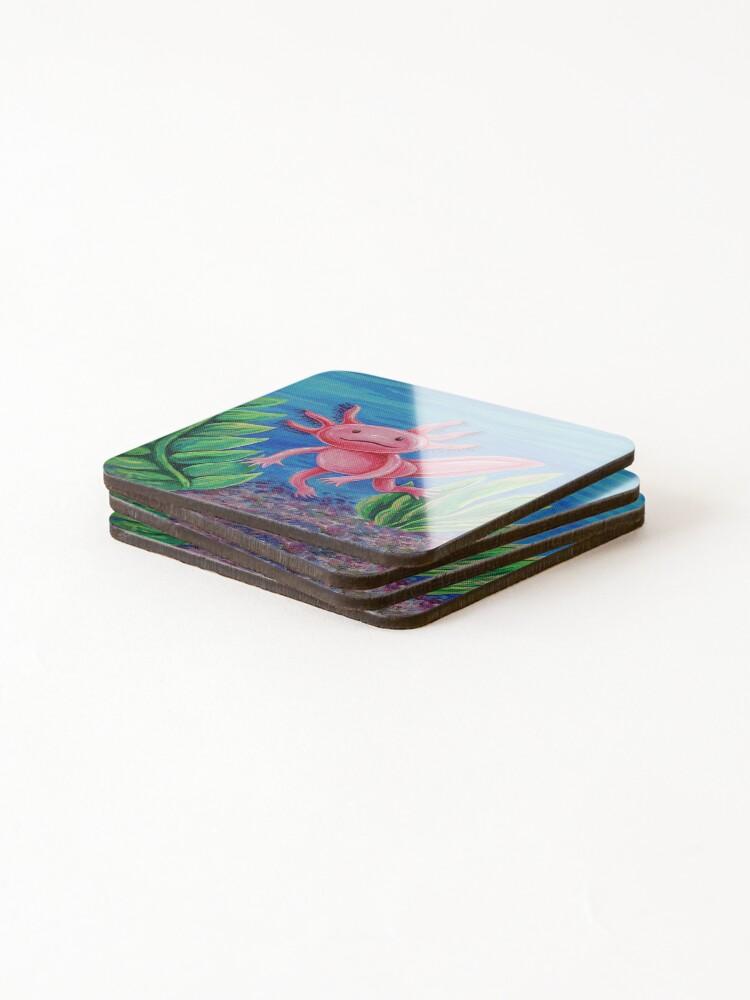 Alternate view of Axolotl Just Vibin' Coasters (Set of 4)