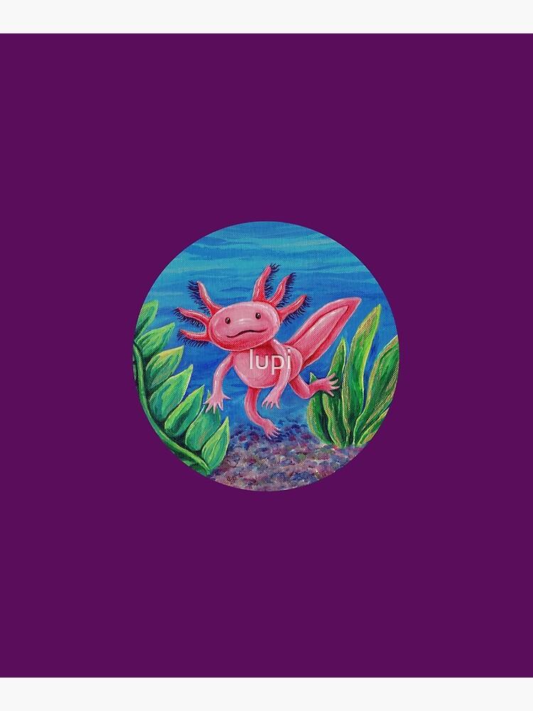 Axolotl Just Vibin' by lupi