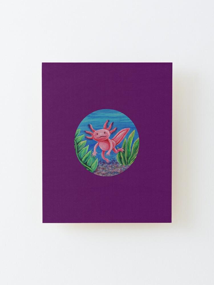 Alternate view of Axolotl Just Vibin' Mounted Print
